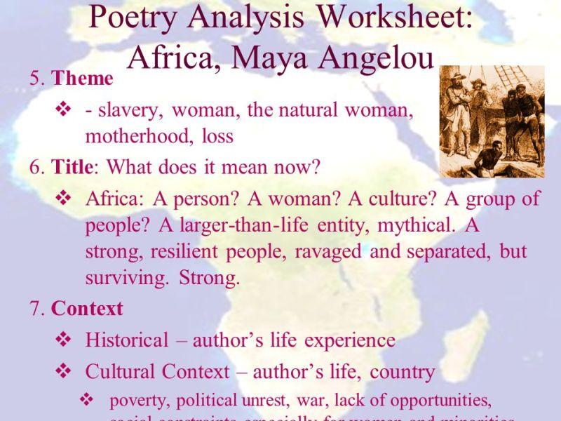 Africa Maya Angelou Poem Analysis Creativepoem