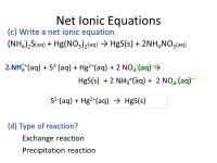 Net Ionic Equation Worksheet Write Balanced - Rcnschool