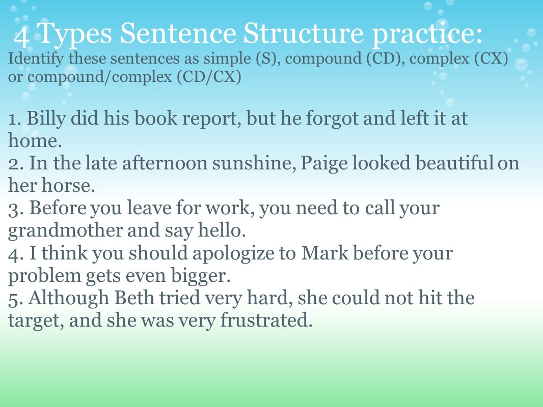 how to diagram a complex sentence hopkins wiring structure 4 types of sentences ppt video online
