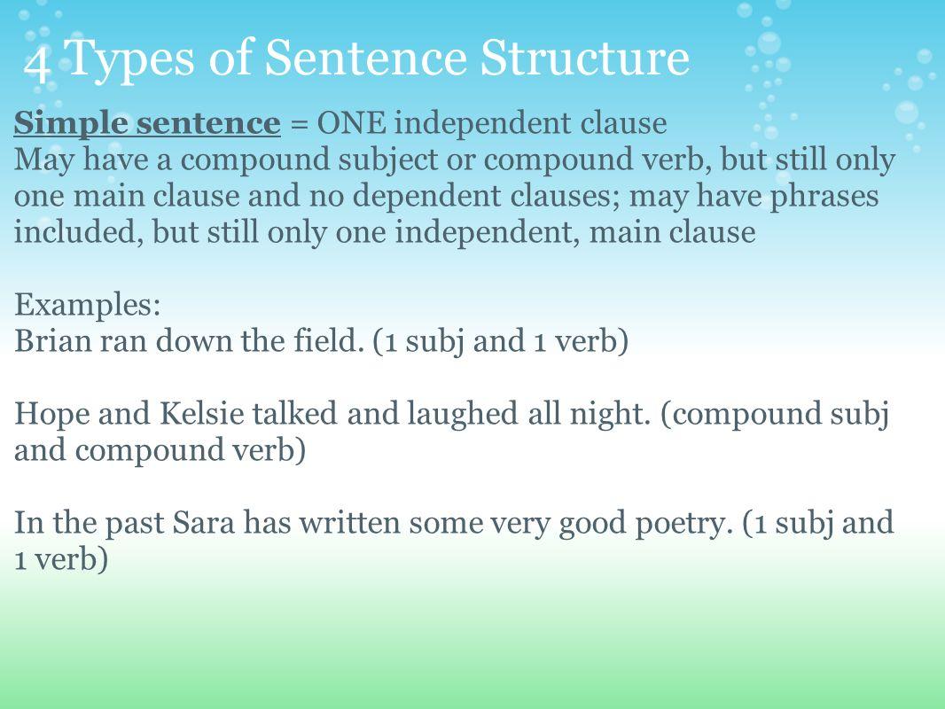 diagram a sentence easy steps 2006 dodge caravan radio wiring structure 4 types of sentences ppt video online