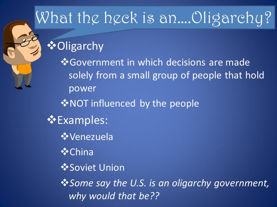 Oligarchy Government Examples
