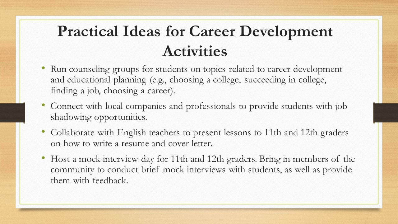 Promoting Educational and Career Planning in Schools  ppt video online download