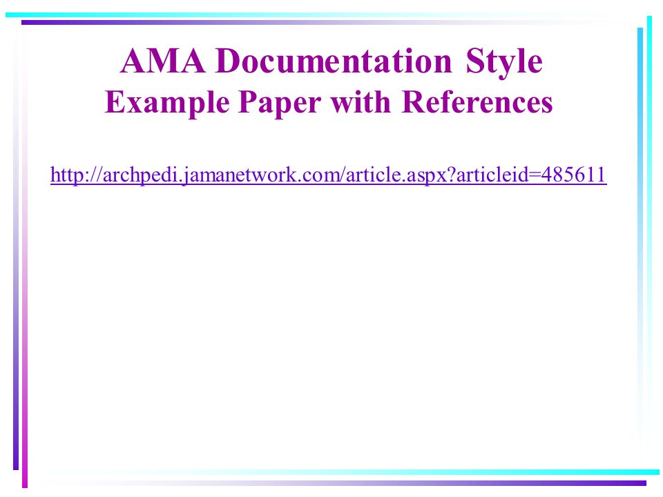 Ama Sample Paper Excluding The Year From The In Text Citation If