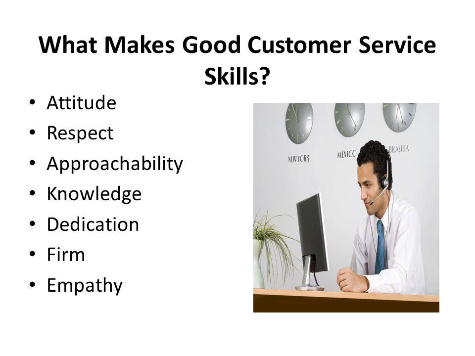 skills needed for customer service