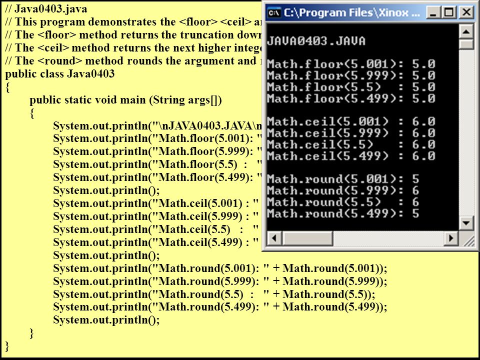 Exposure Java A 2006 Chapter 4 Slides Using Methods And Parameters