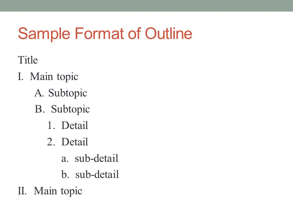 Why And How To Create A Useful Outline Ppt Video Online