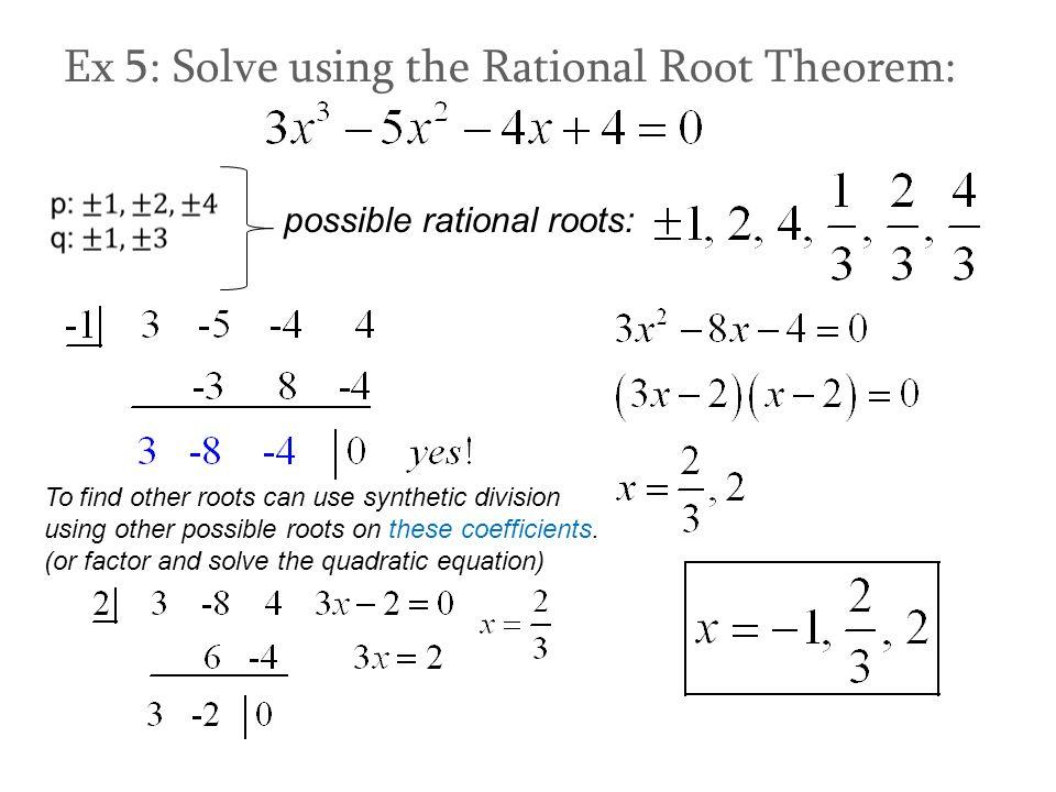 Factor Theorem & Rational Root Theorem  Ppt Video Online Download