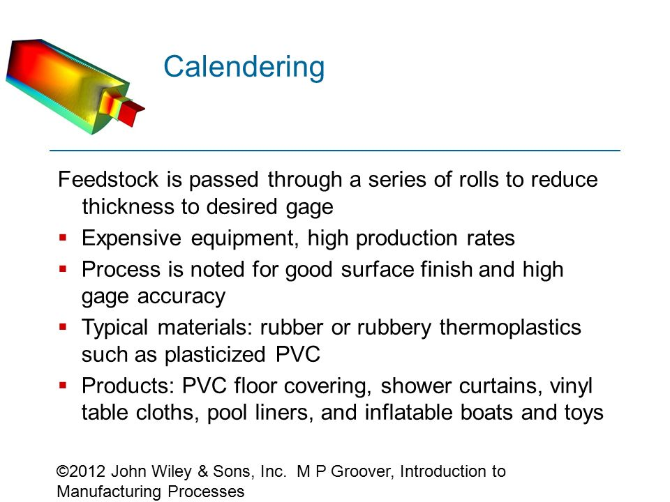 4 Roll Rubber Calendering Process