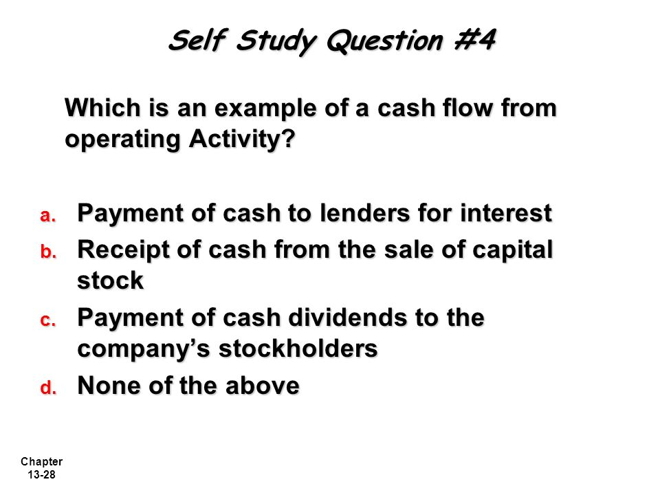 STATEMENT OF CASH FLOWS Managerial Accounting, Fourth