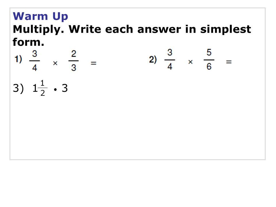 Dividing Fractions SPI Solve problems involving