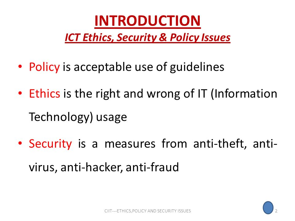 Ict Security Policy Examples