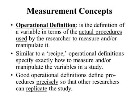Ch 5 Measurement Concepts Ppt Video Online Download