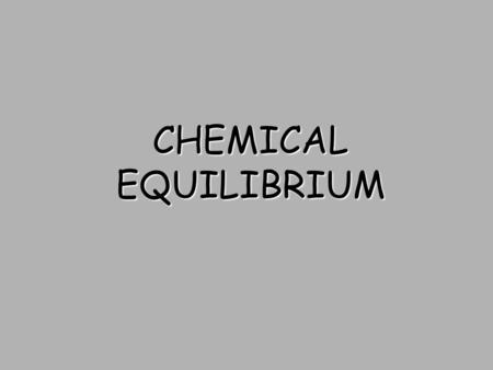 CHEMICAL EQUILIBRIUM Cato Maximilian Guldberg and his