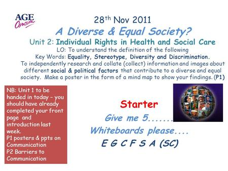 Equality Stereotype Diversity Discrimination  ppt video online download