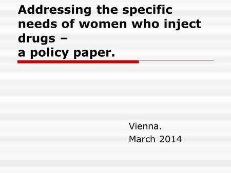 Effective Drugs Policy and Harm Reduction in Tanzania