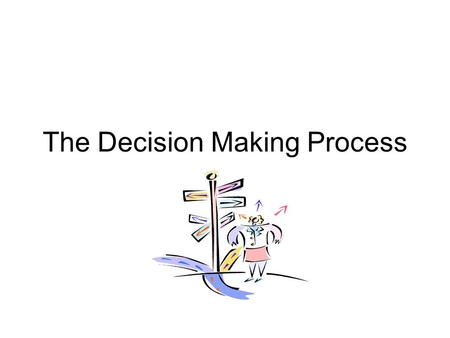 5.01 Understanding the decision making process as a