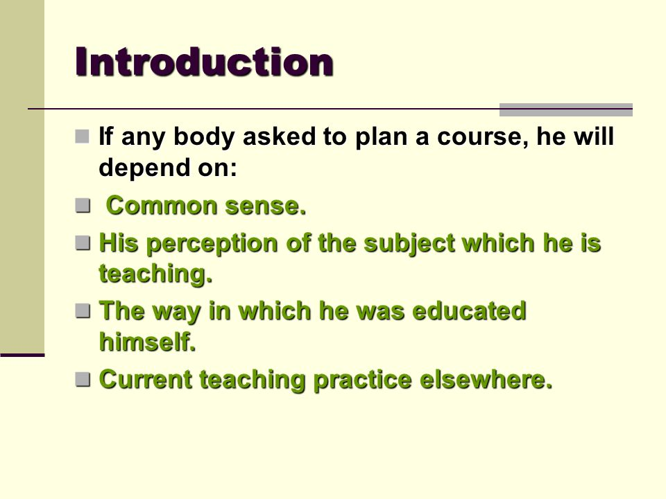 Questions To Be Asked When Planning A Curriculum Or A