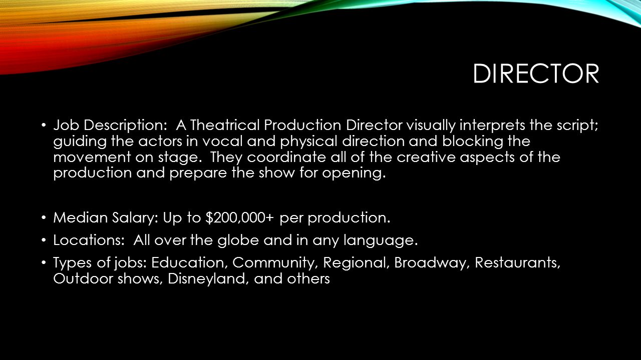 Production Director Job Description Design Templates
