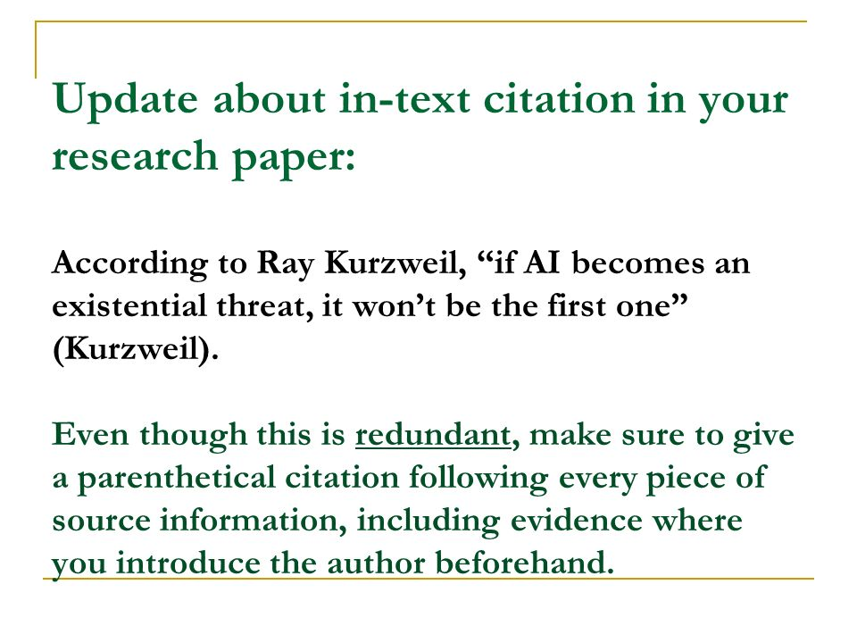 Update About In Text Citation In Your Research Paper