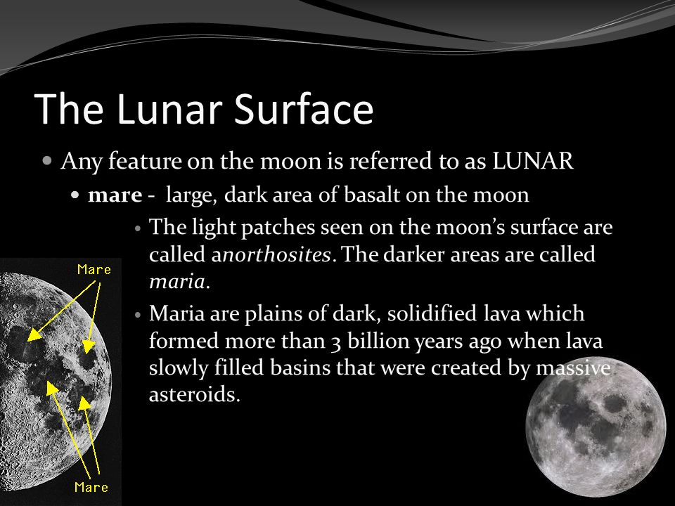 Maria Are Lunar What