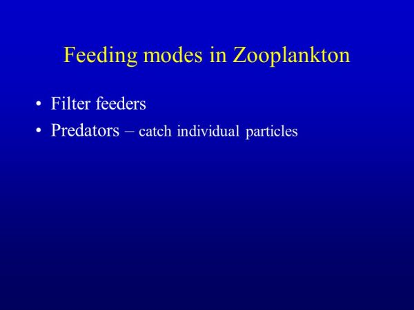 Plankton Summary Plankton cant control their location and