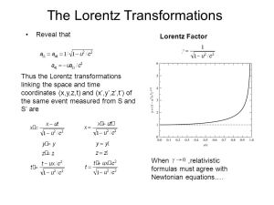Special Relativity The Failure of Galilean Transformations  ppt video online download