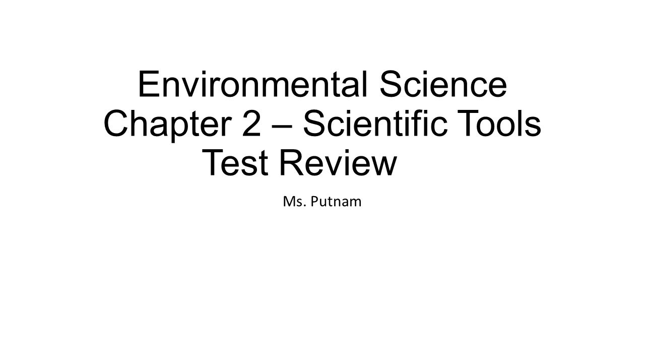 Environmental Science Chapter 2