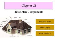 Chapter 22 Roof Plan Components Roof Plan Types Roof ...