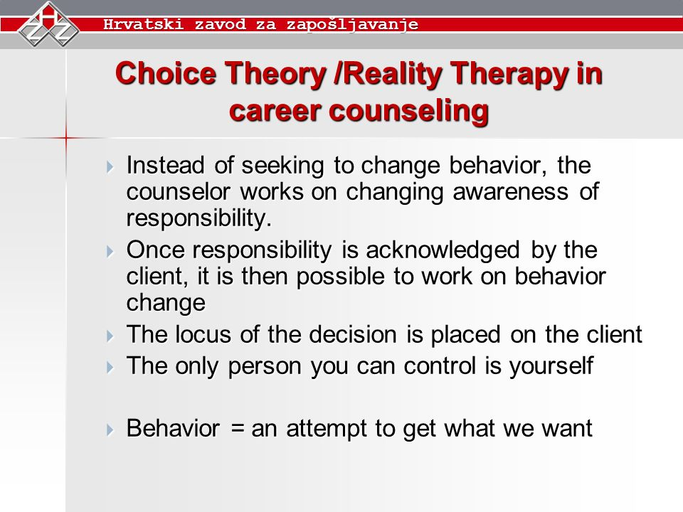 counseling theories chart