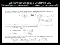 Coulomb S Law Worksheet Answers 15 2 - Breadandhearth