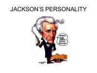 THE PRESIDENCY OF ANDREW JACKSON Spoils System Peggy Eaton ...