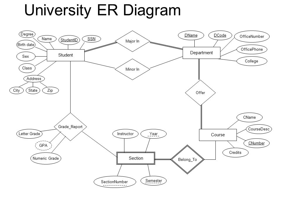 Er Diagram Dbm Ppt