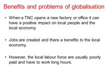 What are the benefits and problems of globalisation? - ppt ...