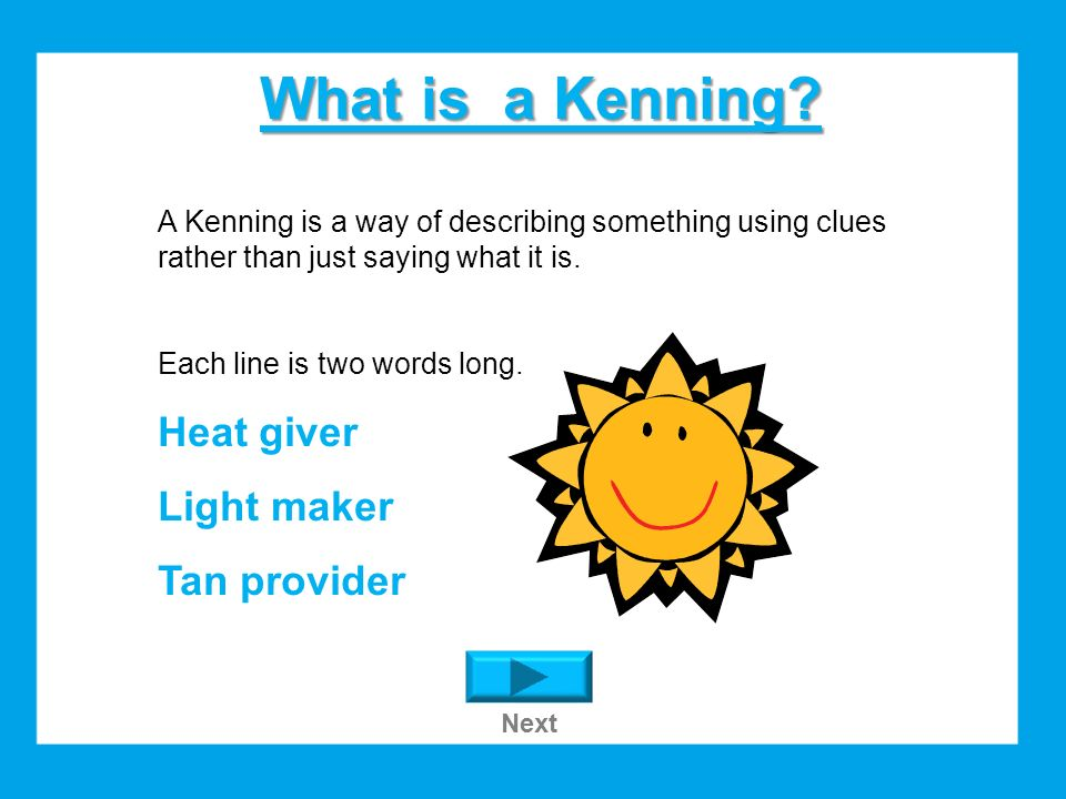 Write Your Own Kenning Next Ppt Download