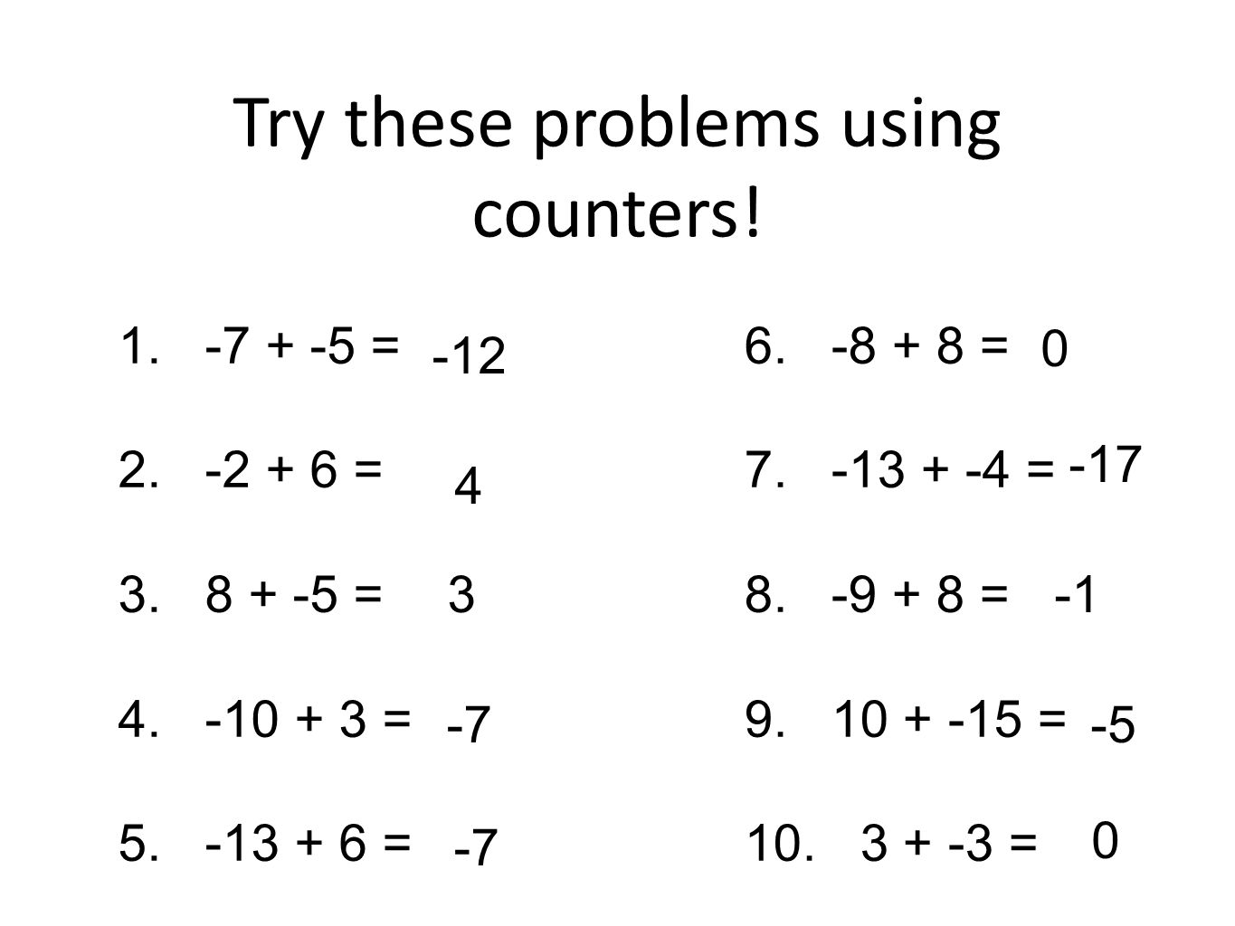 worksheet. Integer Problems. Grass Fedjp Worksheet Study Site
