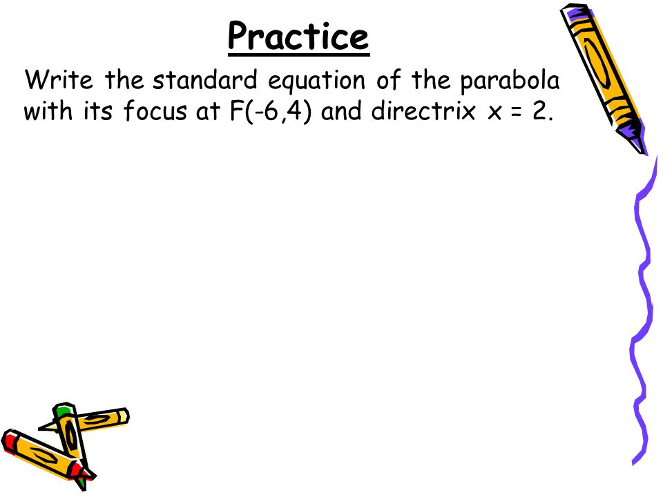 6 minutes Warm-Up For each parabola, find an equation for