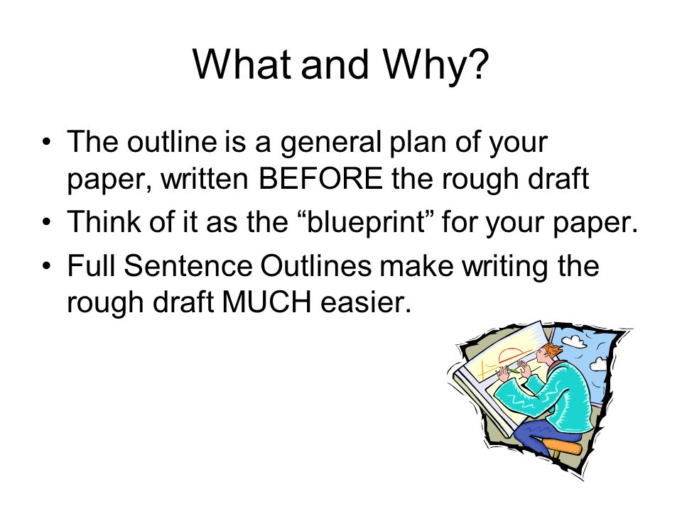 SENTENCE OUTLINES Senior Research Paper Ppt Download