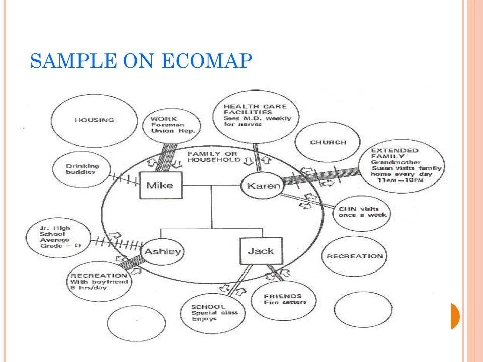 Blank Genogram Ecomap Template