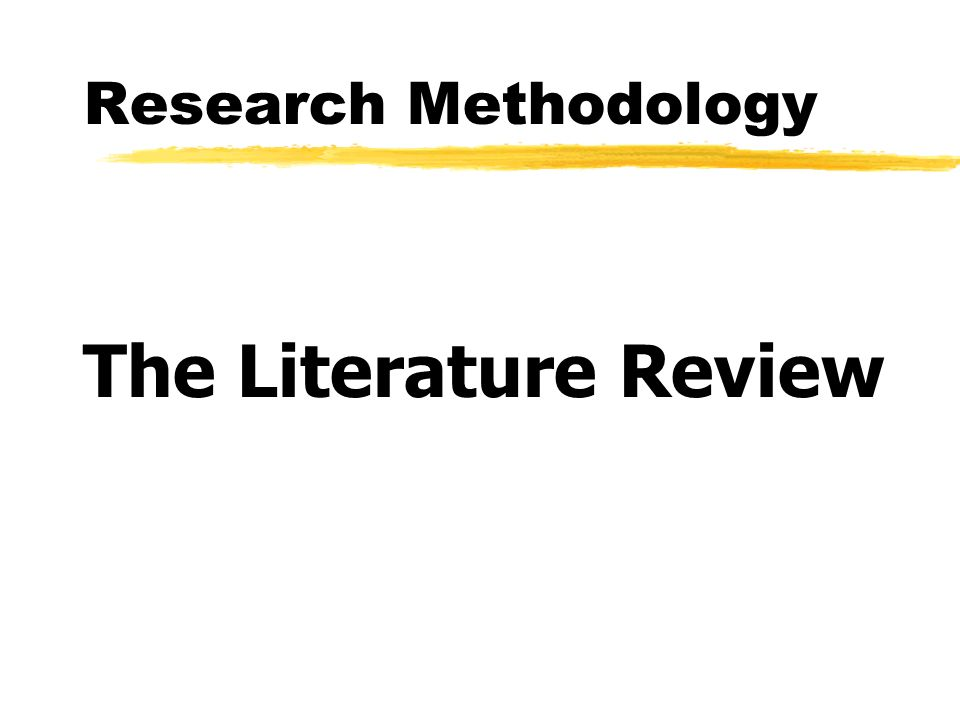 Literature review as research method