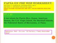 Fafsa On The Web Worksheet Photos - Roostanama
