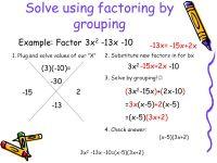 Printable Worksheets  Factoring Quadratic Equations ...