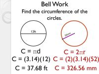 Printable Worksheets  Finding The Circumference Of A ...