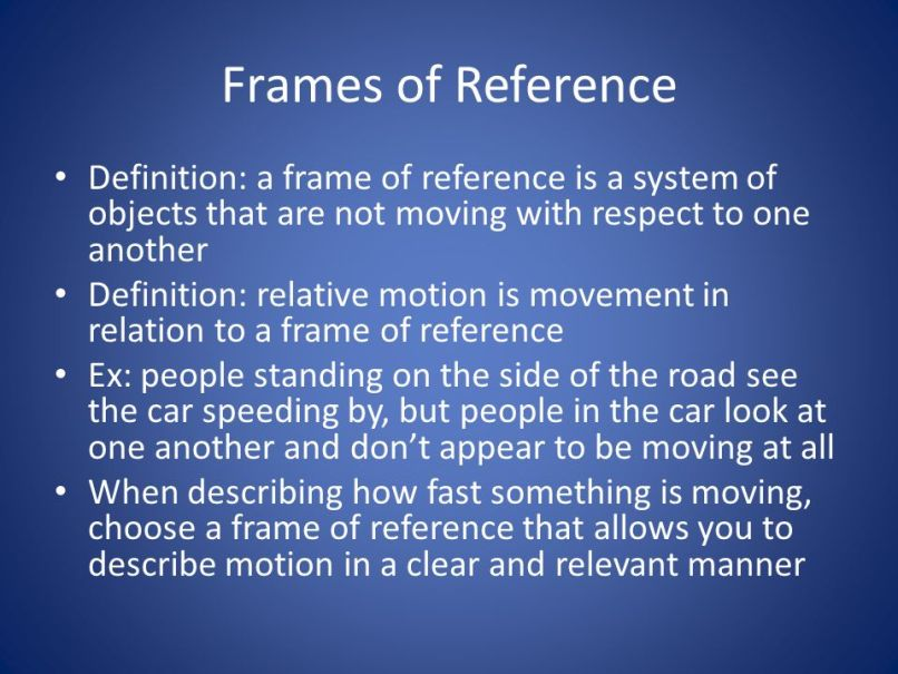 Frame Of Reference Science Definition | Frameswall.co