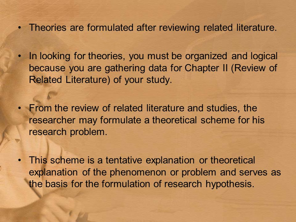Chapter 1 THE PROBLEM AND REVIEW OF LITERATURE AND STUDIES Ppt