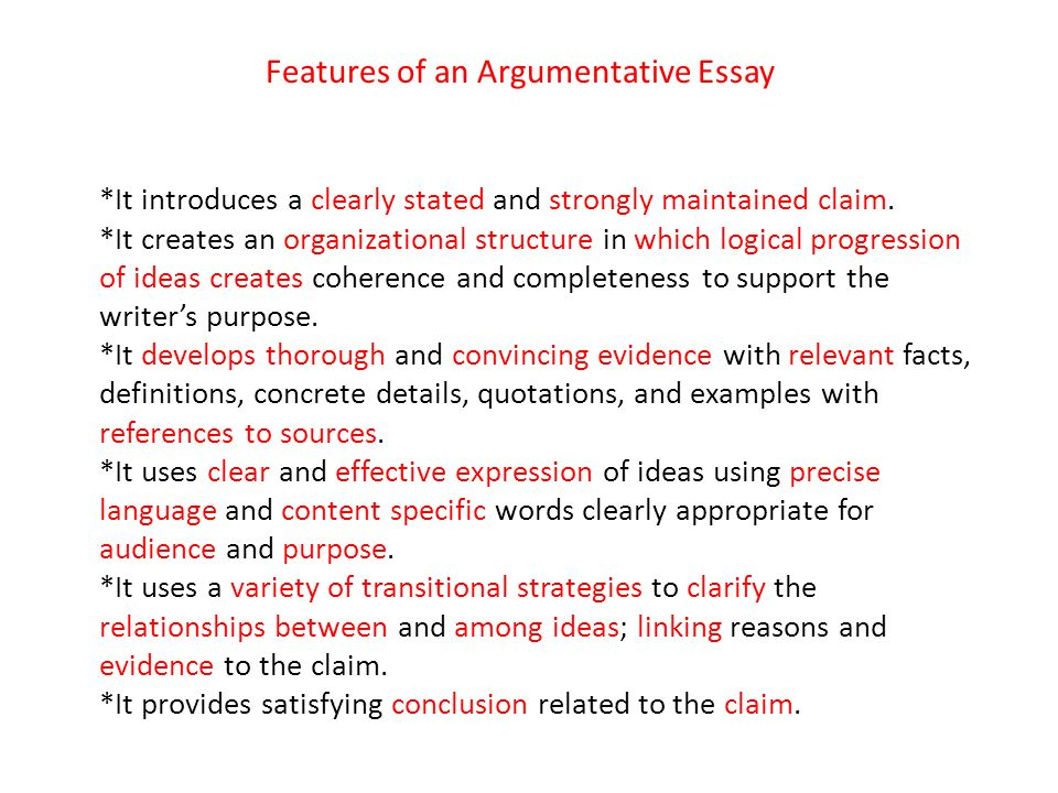 Features Of Argumentative Essay Hospi Noiseworks Co