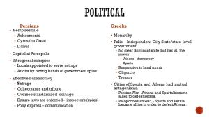 Persians and Greeks CompareContrast  ppt video online