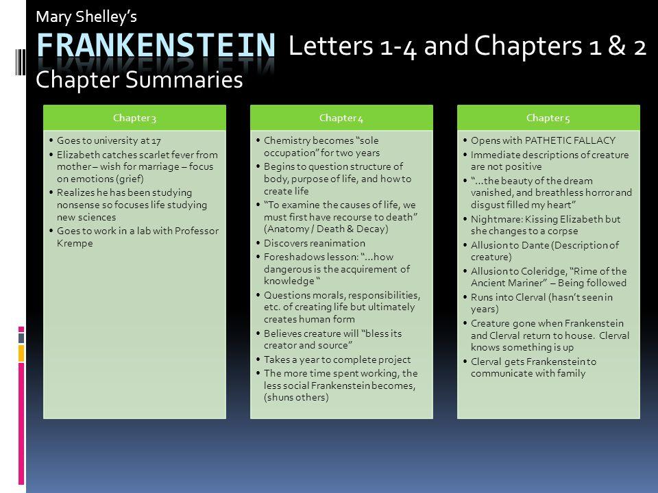Frankenstein Letter 4 Summary  frankenstein letters analysi