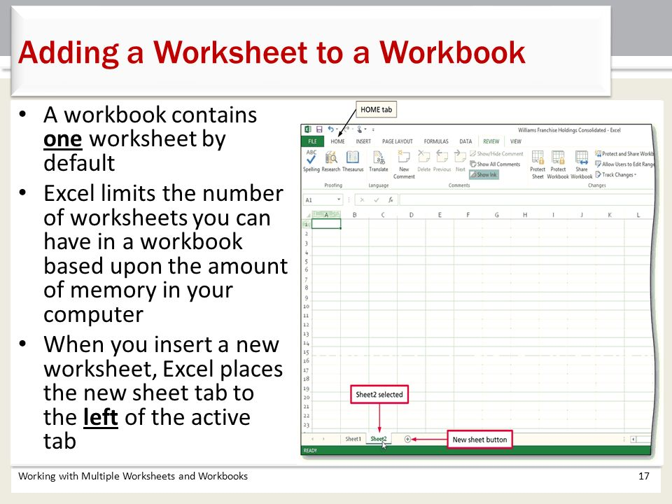 Chapter 5 Working With Multiple Worksheets And Workbooks  Ppt Video Online Download