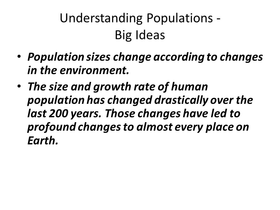 Environmental Science Chapter 8: Understanding Populations
