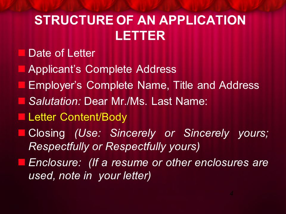 resume and application letter ppt